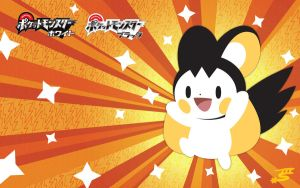 Emolga Wallpaper by Marki-san-Design