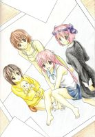 Elfen Lied Girls by AzureDragon4