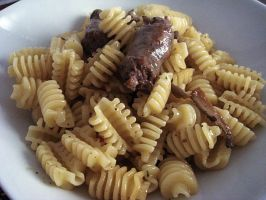 Pasta pleurous and sausages by kivrin82