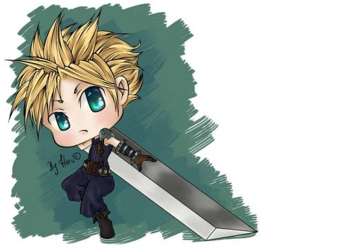 Cloud chibi version by HarukArt