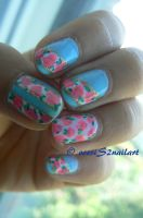 Pink roses design by VeeviS2