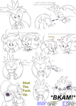 Three Hedgehogs and Hedchidna by Juana-the-Hedchinda