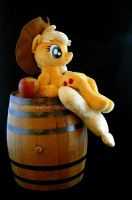 Sitting Applejack Plushie by WhiteHeather