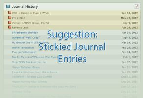 DA Suggestion: Stickied Journals by GillianIvy