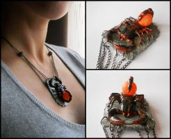 Antarid Necklace (details) by GemDeDude