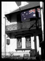 Sydney - House and Flag by clairwitch