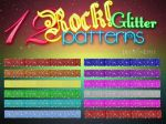 12 Glitter Rock Patterns by LexiVonEerie