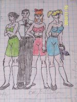 CN Powerpuff Girls all growdup by coonk9