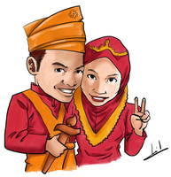 Portrait Haza Wedding by mohdsyukri83