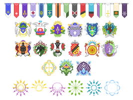AA Pixel Banners, Crests and Halos by 2StreetsDown