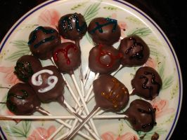 Homestuck Troll Cake Pops Batch 2 by eldritchMortician