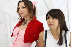Together - FFVII Aeris and Tifa by Ali-Kitty