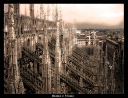 On top of the Duomo by Uhanam