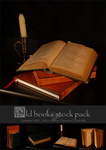 Stock pack - Old books by Grinmir-stock