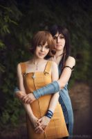 Final Fantasy VIII girls: Rinoa and Selphie by ElenaLeetah