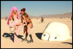 Burning Man Girls by the-little-skylark