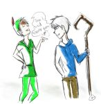 Jack Frost and Peter Pan by LeTriforce