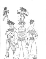 Goku's family by saburokun