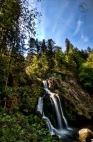 Triberg Waterfall HDR 03 by Creative--Dragon
