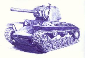 another soviet tank by branka42