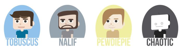 Youtubers by whimsicaltwigs