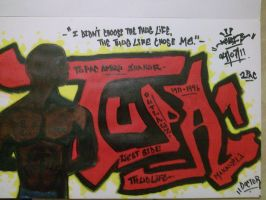 Tupac Graffiti by Kalana321