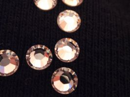 Rhinestones on Black 1 by BlazesStarStock