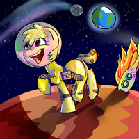 Puppysmiles reaches da space by ScoomaKhajiit