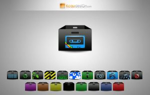 folders' box for MacOSX by kcaudesign