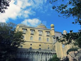 Sintra Castle by Fluessiges-Feuer