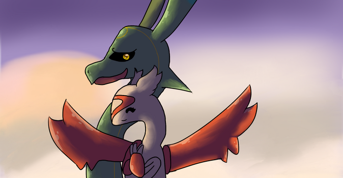 Even Rayquaza need some love by ScootBreeze