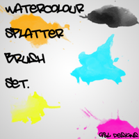 Watercolour Splatter Brushes by analeewon