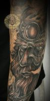 Viking arm tat in prog. by 2Face-Tattoo