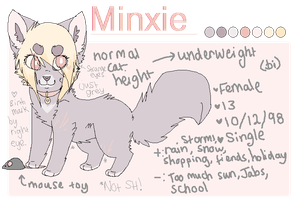 Minxie- Small Reference Sheet by felicities