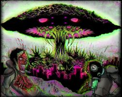 Fifty feet of earth album cover by Corpse-boy