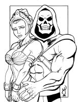 Skeletor and Teela by MichaelPowellArt