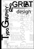 typography book cover1 by dindaseh