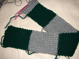 Slytherin Knit Scarf WIP by CreationsbyJolie