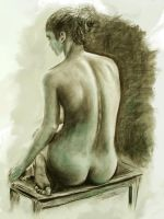 Back Nude by mchiarella