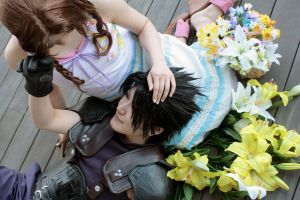 Zack and Aerith by xkoukix