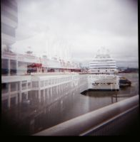 Canada Place::Ferry by TheNewBlueBlood
