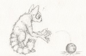 Daily Sketch 3: Bowling Lemur by The-BenT-One