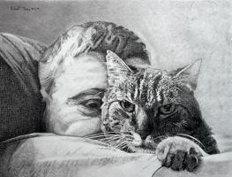 Man With His Cat by hank1