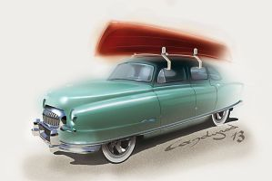 Hot Wheels 1951 Nash Airflyte by candyrod