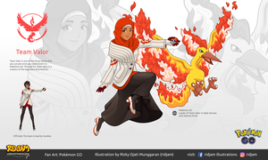 Leader of Team Valor with Moltres by RIDJAM