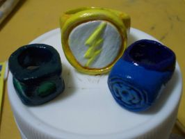 Paper Clay Rings by hawthehaw