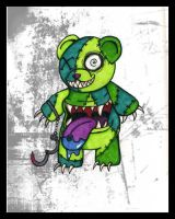 Zombie Teddy Bear by FlavorlessMuffin