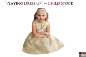 Playing Dress Up -- Child Stock by KarahRobinson-Art