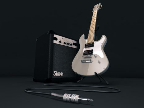 Electric guitar and amp by sime242