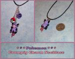 Pokemon - Grumpig Charm Necklace with Pokeball by YellerCrakka